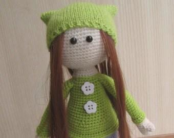 Crochet doll,Amigurumi doll, Soft doll, Handmade doll, Unique Doll, Personalized Doll, Interior doll, Brave Merida, Cute doll, Girl red hair