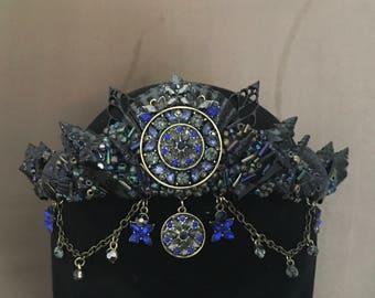 Midnight Black Petit Shell Crown