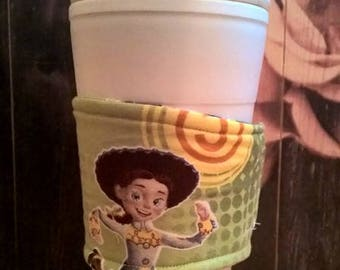 Toy story eco friendly sleeve. Disposible cup, Jessie, buzzlightyear