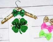 Baby Girls Personalized Saint Patricks Day Onesie, Saint Patricks Day Shirt, Shamrock Onesie; St Pattys Day Onesie, St Patricks Day Toddler
