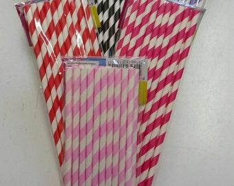 Paper Drinking Straws, Straws, Paper Straws, Pretty Straws Pkt 20