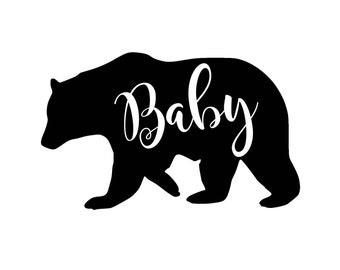 Baby Bear IRON ON Transfer Decal Heat Transfer Vinyl Baby Bear Shirt Little Bear Brother Bear Sister Bear