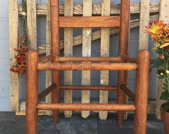 Vintage Childu0027s Chair Repurposed Furniture Small Wooden Chair Rustic  Farmhouse Decor Country Decor Photography Prop