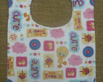 Handmade Toddler Food Bib - Tweety Bird