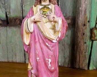 Vintage French Statue of our Lord Jesus Christ