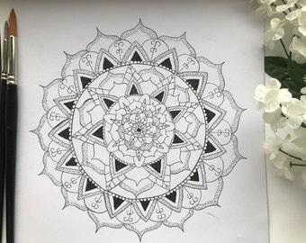 Custom Hand Illustrated Mandala