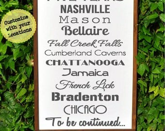 Places of Travel Gift, World Traveler Gift, Adventure awaits, Vacation Places, Unique gift idea, Travel Gifts, Wood sign, Destination Sign