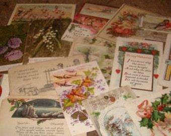 30 Vintage Postcards (CRAFT LOT #9)