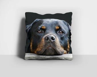 Rottweiler Pillow, Rottie Pillow, Rotty Pillow, Throw Pillow, Dog Pillow, Home Decor, Decorative Pillow, Pillow Case, Pillow Cover