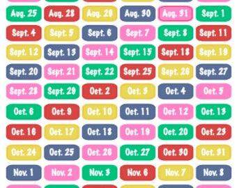 Happy Planner Teacher Date Stickers