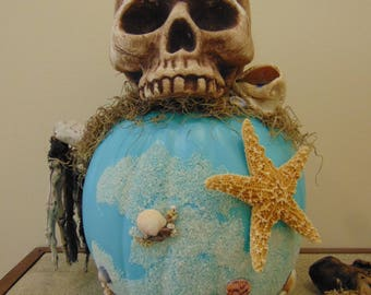Coastal Halloween Pumpkin
