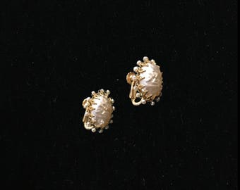 Miriam Haskell Faux Pearl Earrings