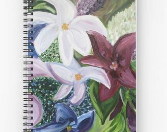 "Floral Original ""Dancing On Petals"" Hardcover/Spiral Journal"