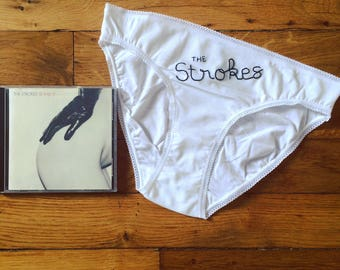 Embroidered Panties Groupie - the Strokes