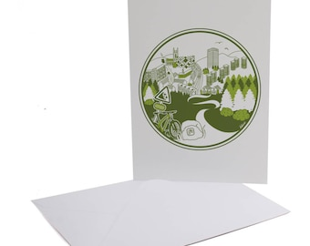 Parkwood Springs Sheffield Greetings Card