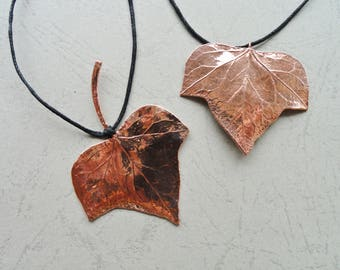 Ivy leaf jewelry etsy ivy leaf ivy pendant ivy necklace leaf pendant leaf necklace electroforming mozeypictures Image collections