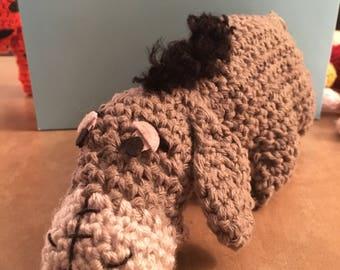 EEYORE Winnie The Pooh Crochet Doll FREE SHIPPING