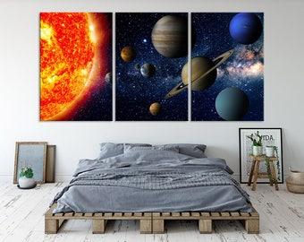 Solar System Wall Art Canvas Print, Planet Wall Art, Space Wall Art, Solar