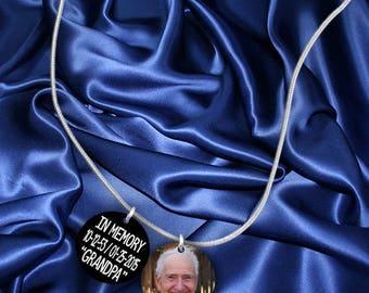 In Memory Memorial Custom Photo Charm Necklace