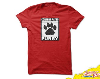 Content Rated Furry T-Shirt