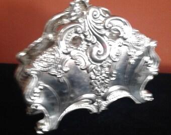 Vintage Godinger Silver-plated Ornate Napkin Holder