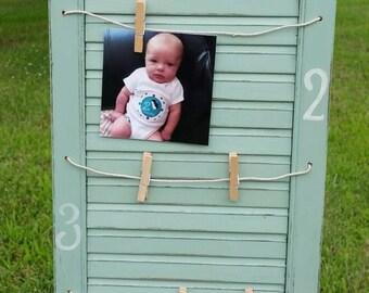 Shabby Chic Baby/Child Wall Photo Display