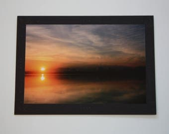 Sunrise Blank Photo Mount Greeting Card