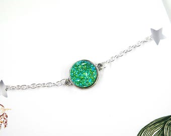 Gemstone bracelet | druzy bracelet, dainty bracelet, minimalist bracelet, gift for her, quote card, boho, gift, bohemian, gypsy, hippie, eye