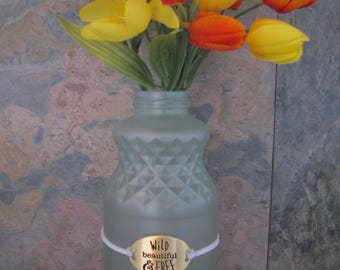 Upcycled Glass Bottles - Sea glass