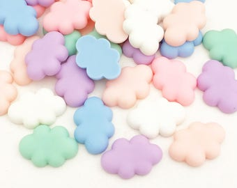 Pastel Cloud Cabochons (12 pcs) Kawaii Cabochons Resin Flat Back Cell Phone Deco
