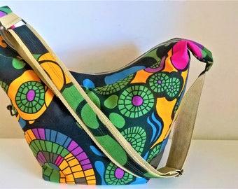 Hobo bag pattern abstract, crossbody hobo bag, colorful shoulder bag, hobo bag purse, bags for women, gift for her