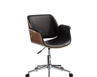 Office chair, modern chair, modern office chair, wood chair, modern wood chair, wood office chair, desk chair, office furniture, vintage.