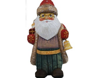 Beautiful Russian Hand Carved and Painted Wooden Santa