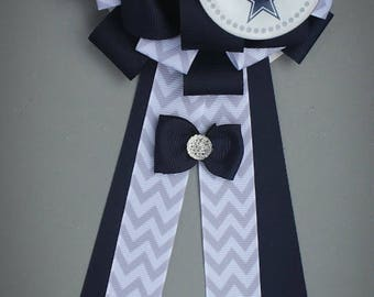 Dallas Mommy To Be Corsage, Dallas Cowboys Shower Corsage, Sports Mommy To  Be Pin