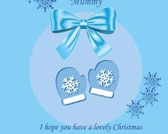 Mummy Christmas Card from Bump Boy