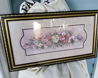 retired signed barbara mock flower print home interior and gifts picture