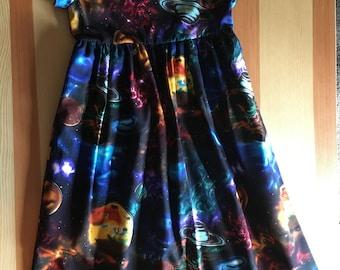 CUSTOM Girls Size 3 4 5 6 Solar Eclipse Dresses Summer Dress 6 Short Sleeve Dress Girls Dresses For Girls Solar Eclipse Dress Back to School