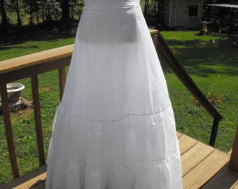 Crinoline Slip Style Davids Bridal Petticoat Size 12 14 Two Tier Medium Fullness A