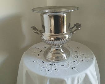Vintage Leonard Silver Plated Trophy Champagne Wine Urn - Ice Bucket - Drinks Cooler -Vase