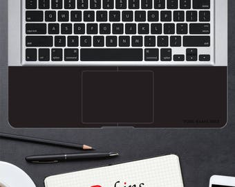 "AtSkins Your Name is the Brand - Black Palmrest Skins Personalized fit for: 13"" MacBook Pro Unibody wrist rest protection"