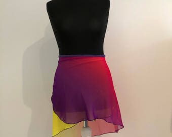 Ombre Ballet Skirt Yellow-pink-lilac, hand sewn (different lengths)