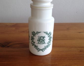 Pot apothecary - opal glass - vintage - Italy