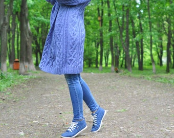 knitted a women cardigan, handmade work, very pretty cardigan for women, soft merino and casual style