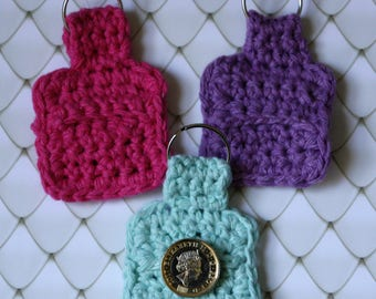 Trolley Coin Holder, Pound Coin Holder, Trolley Keyring, Trolley Token Holder, Crochet Pouch, Mini Purse, Crochet Purse, Coin Holder