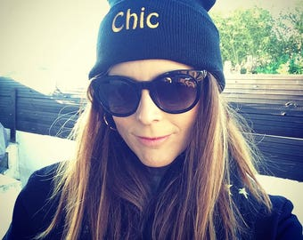 Chic Pom Pom Knit Cap (3 colors)