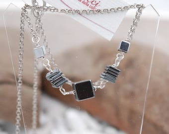 Silver and Hematite necklace