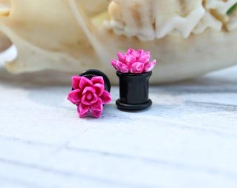 Pink Lotus Plugs -2g - 0g - 00g - 7/16