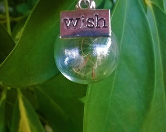 Make a Wish necklace/dandelions