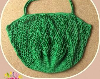 perfect bag Green, cotton, crochet green shopping bag, blue Greens Einkaufstaschen