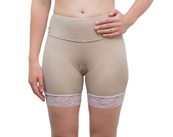 SPORT pettipants in tan with white lace hem